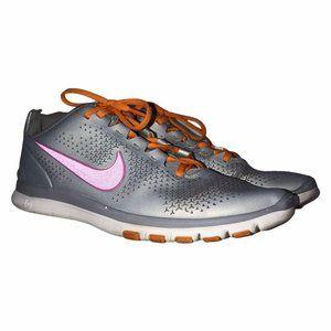 Nike Free 3.0 Silver Orange Running Shoes 8